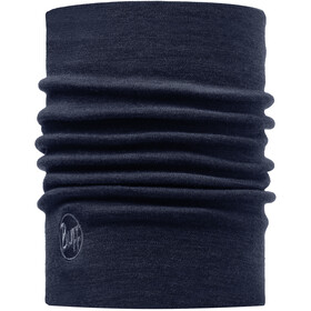 Buff Heavyweight Merino Wool Scaldacollo tubolare, solid denim